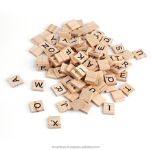 100 Letters Wooden Scrabble Tiles Rectangle 18x20mm /100 Letters/Alphabets Pendants