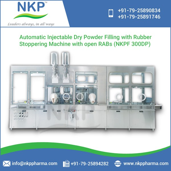 Automatic Injectable Dry Powder Filling with Rubber Stoppering Machine at Low Cost