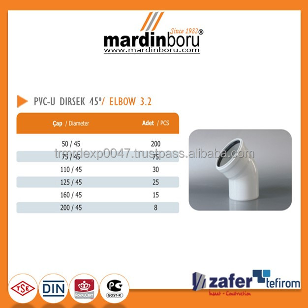 PVC ELBOW 45 Degree 3.2