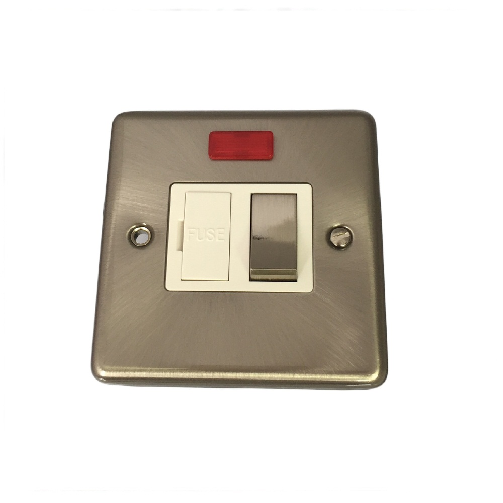 Sinoe Y419 BS Certified 13A Switched Fused Connection Unit with Neon on/off Indicator. (12 Year Guarantee)