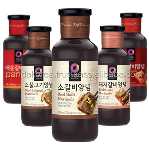 chungjungwon korea food brands Squeezed Organic olive oil,Grape seed oil,steak sauce,Pork ribs seasoning,Hot spicy ribs