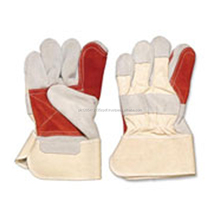 Custom Made Working Gloves Double palm Buffalo Grain Leather China