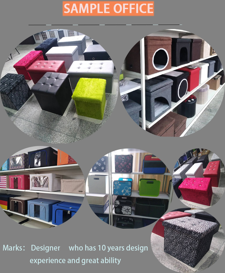 2017 foldable pet house Ottoman with one door