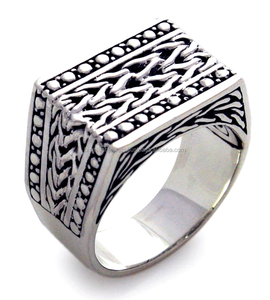 Hot Sale New Designs Beautiful 925 Sterling Silver Men's Signet Ring