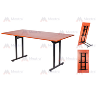 Banquet Folding Table T legs Wooden Top Steel Frame Top Quality 138x90CM