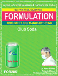 formula document for making CLUB SODA
