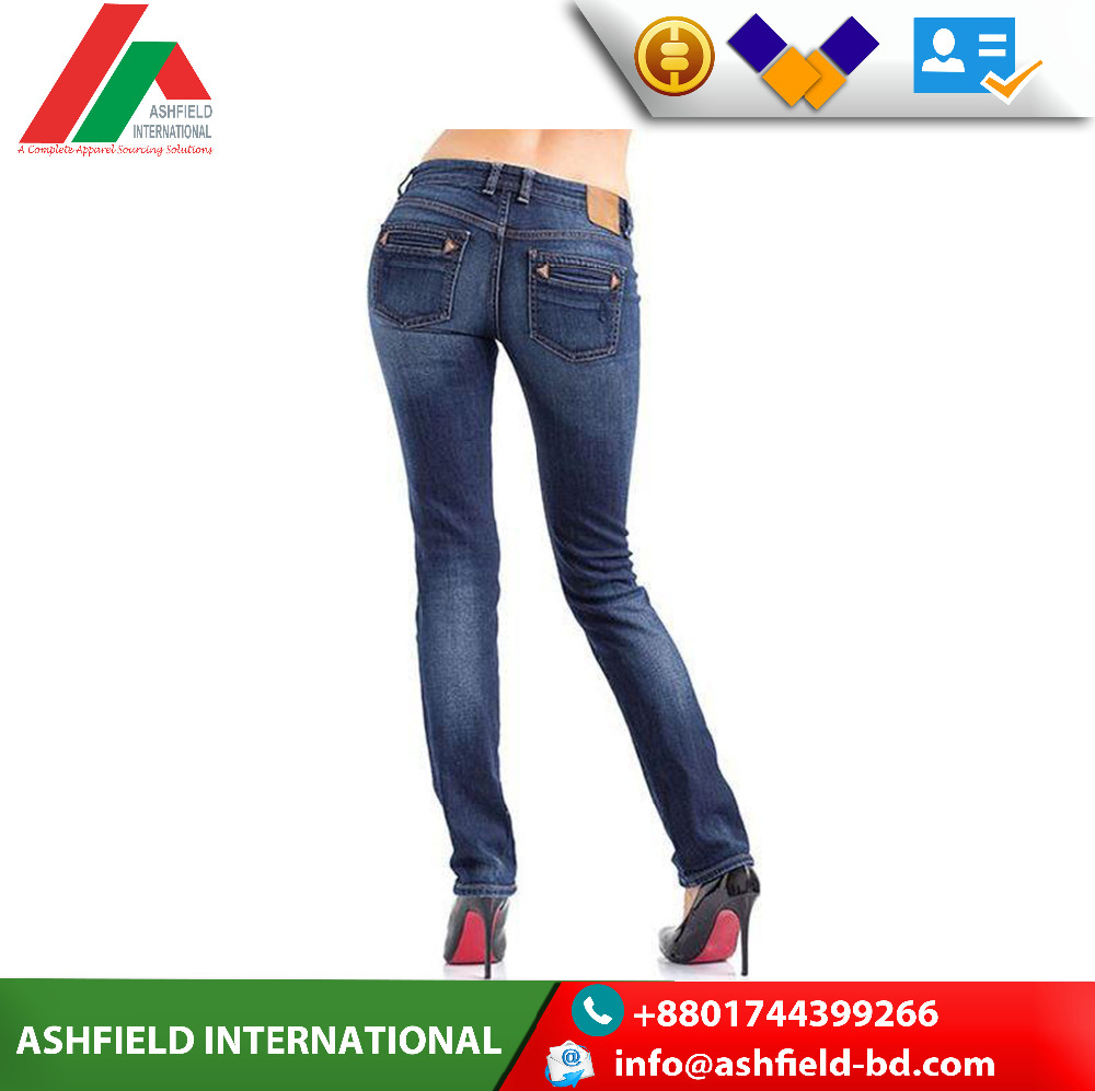 Showlands Fashion Cigarette Pants Regular Fit Jeans Woman Denim