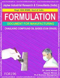 formula document for making CHAULKING COMPOUND OIL BASED (GUN GRADE)