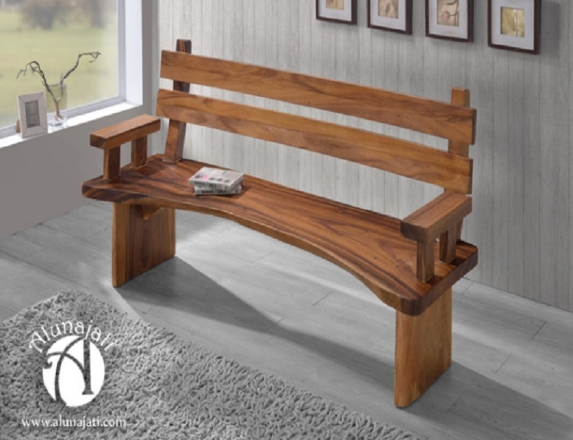 New Design Wooden Laid Back Bench Outdoor Home Furniture