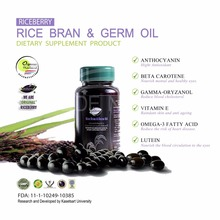 Thai High Quality Original Organic Riceberry Rice Bran & Germ Gel Oil Supplement Pack