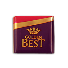 GOLDEN BEST MAJESTY NAPOLITEN FRUIT FLAVORED CREAM FILLING COMPOUND CHOCOLATE 10 GR. TURKISH