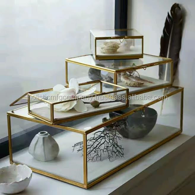 Set of Glass Display Boxes,Storage Boxes,Jewellry Box