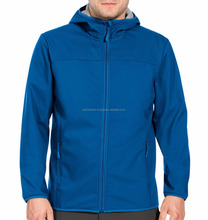 Wholesale high quality polar fleece lined cheap hooded softshell jacket for man