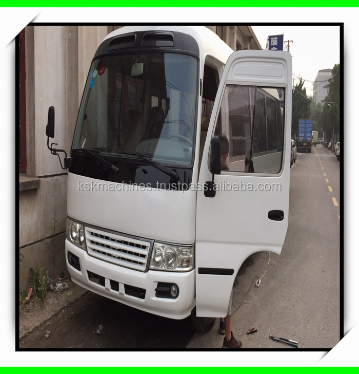 100% original Japan used Toyota coaster buses Diesel engine left hand drive mini bus for sale