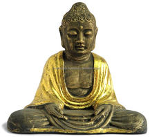 Sitting Buddha with Candle Holder Home and Garden Decoration Buddha Statue with Fine Detail