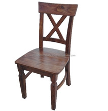Solid Acacia Wood Dining Room Furniture Cross Back Dining Chair