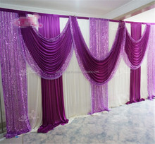 wedding ceiling drape,chiffon drape for wedding decoration