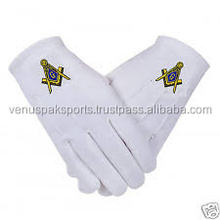 NEW COTTON MASONIC GLOVES/EMBROIDERY COTTON MASONIC GLOVES