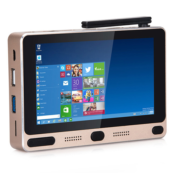 1Chip all in one smallest Windows10+Android 5.1 Dual OS MINI PC 64GB 5inch Touch Screen Tablet PC