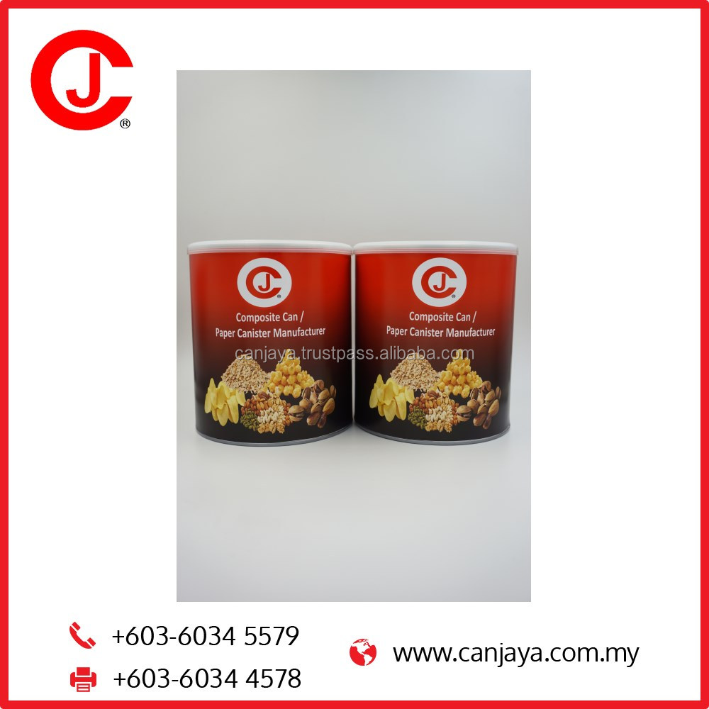Paper Composite Canister For Food Powder Packaging D502 RCD with Foil Opener Healthcare