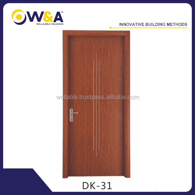 Solid Wooden Interior Door, Hotel Wpc Bedroom Doors