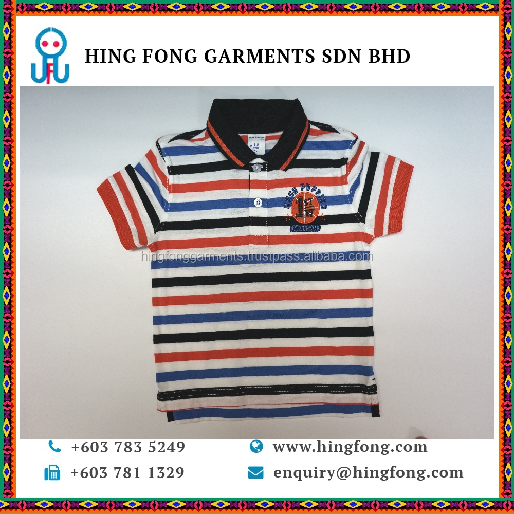 Hot Sale new style fashion boy's shirt children Printed Kid T Shirt for Baby in Colorful Stripes