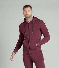 Heavy Fleece Hoodies Cotton Fleece Contrast Color Plain Men's Fleece Hoodie