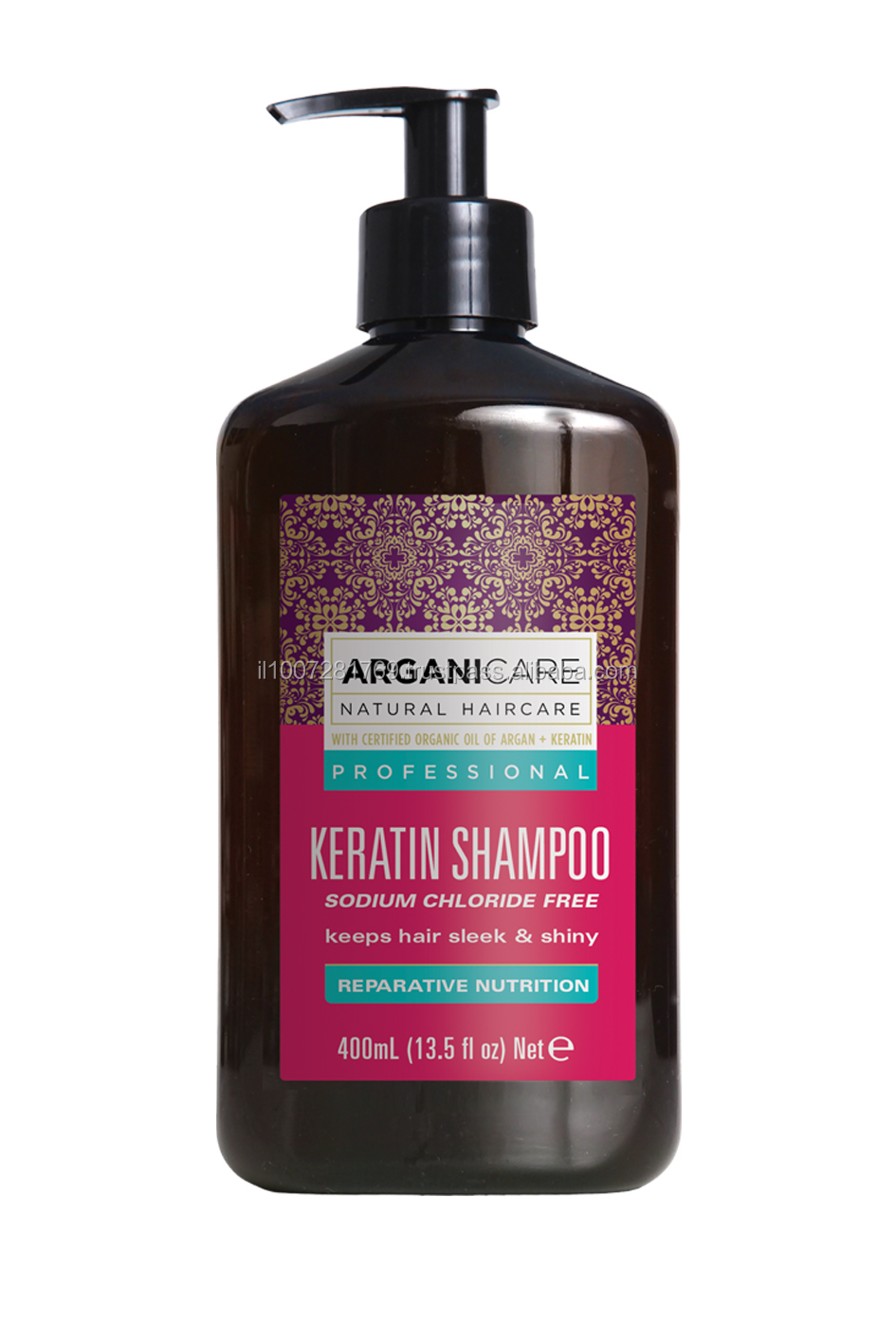 Shampoo keratin sodium chloride free - 400 ml - keeps hair sleek & shiny