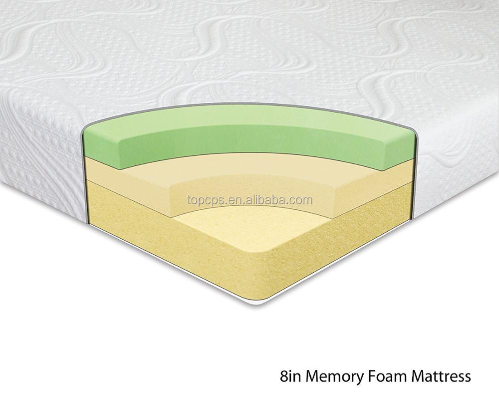 Hot sale 8In. memory foam mattress elegant mattress thin foam mattress