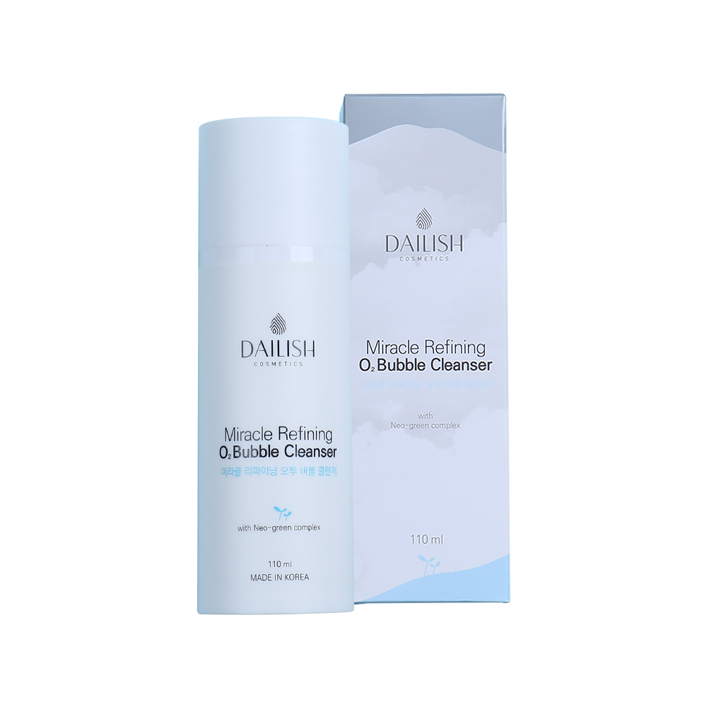 Dailish Miracle Refining O2 Bubble Cleanser 110ml Refreshing Perfect makeup remover Smooth Natural Facial Skin Care Dryness Deep