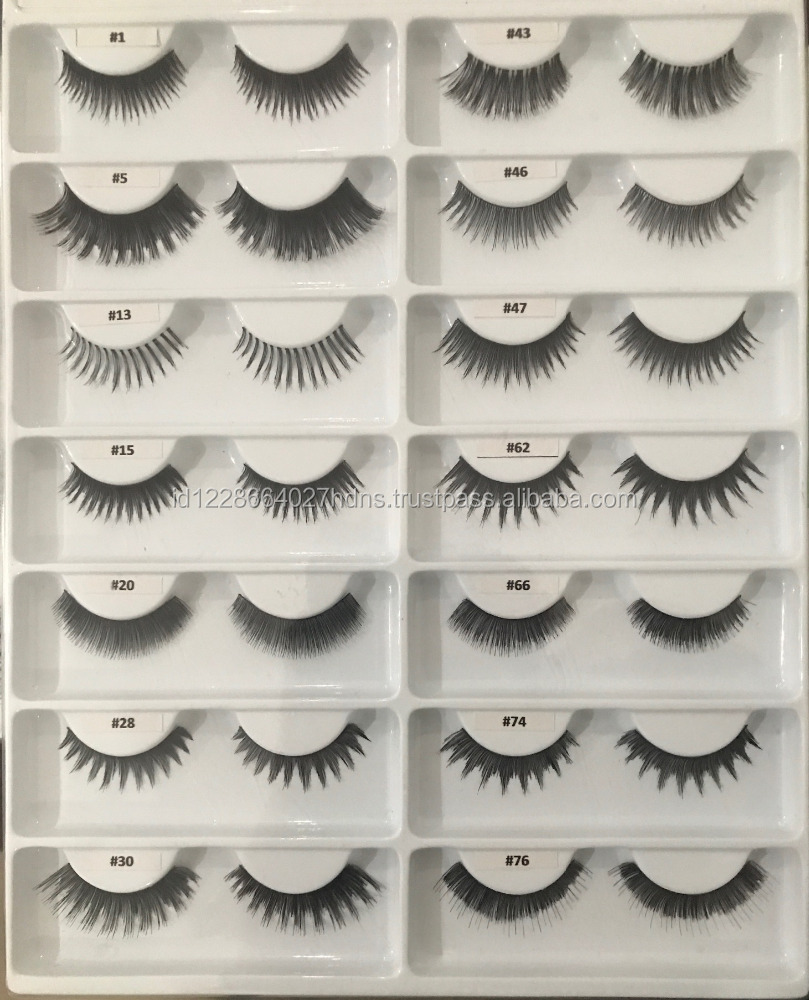 Own Brand/OEM/Private Label Wholesale 3D 100% Human Hair Eyelashes