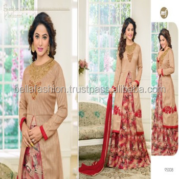 Indian Beautiful Woman Wear Embroidery Dress Designer Straight Suits