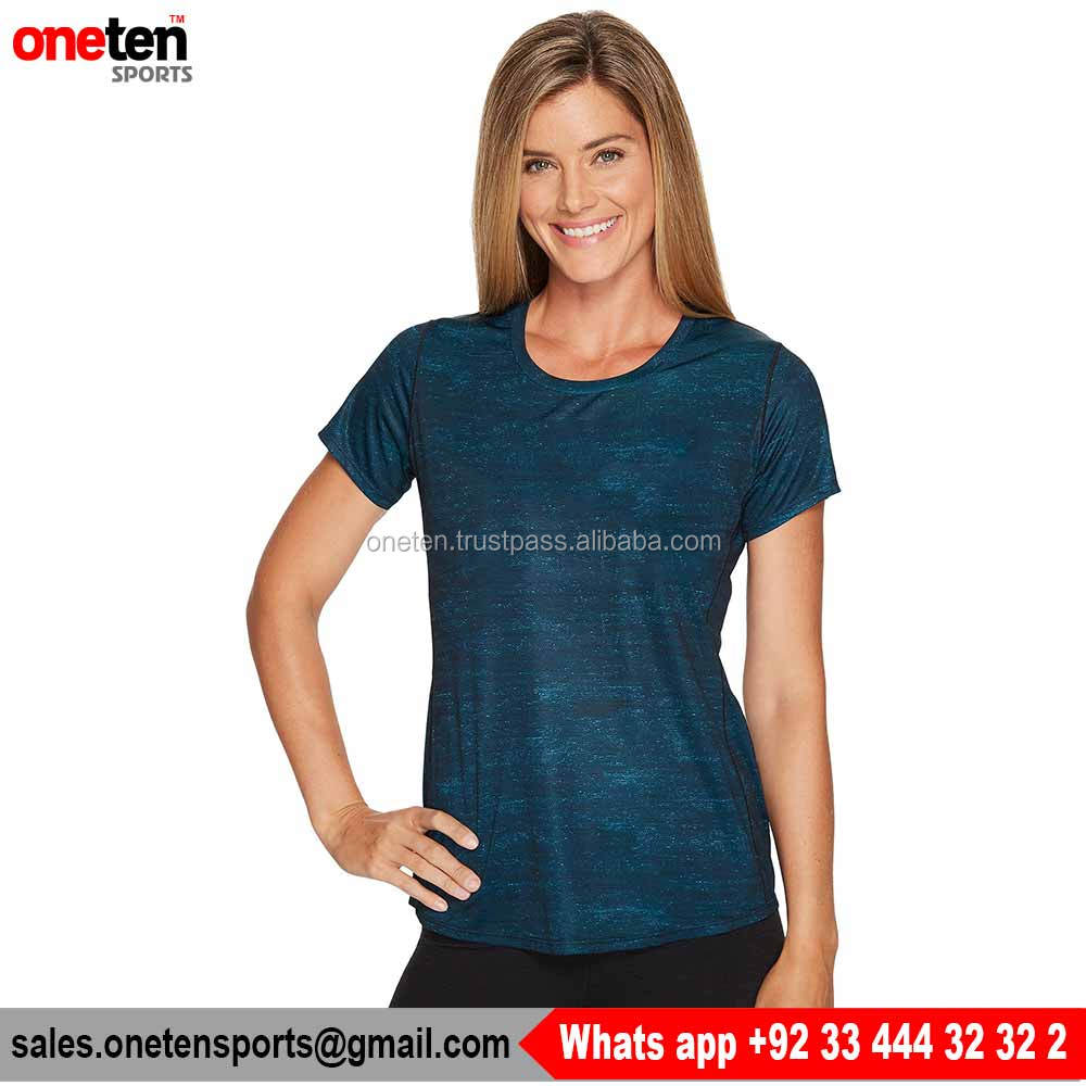 Beautiful Color Women Short Sleeve Jersey - One Ten Sports Women Gym Wear