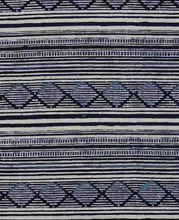 Stripe Design Ajrak Natural Dyed Pure Printed Cotton Fabric