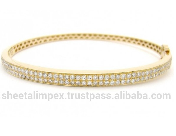 Top Rated Design 1.50Tcw VS1 Clarity Round Cut 100% Natural White Diamonds 14Kt Yellow Gold Sparkling Bracelet at Discount Price