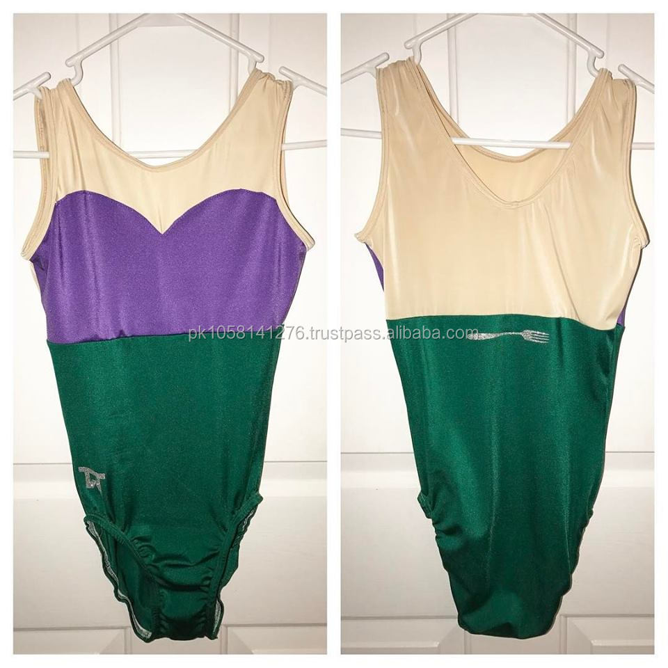 Sleeveless heavy GSM gymnastic costume