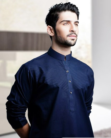 Men Kurta - Plain - Fancy Shalwar Suit