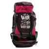 Get Unbarred Adventure Stylish Series 55 Ltr Large Capacity Bag for Trekking Hiking Camping and Travel Backpack - Brown/Pink