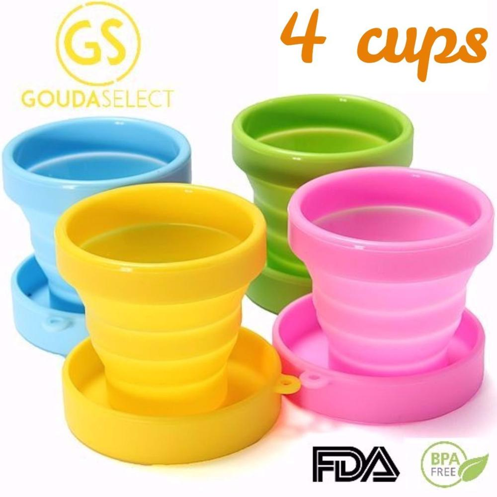 Silicone Rubber Folding Cup Collapsible Silicone Measure Cups