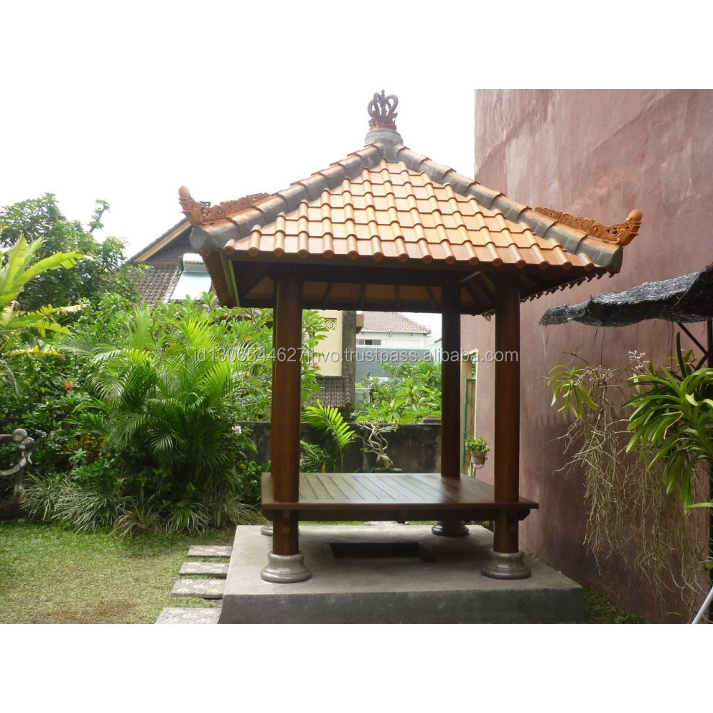 Super Quality Modern Design Coconut Wood Backyard Gazebo with Clay Roof