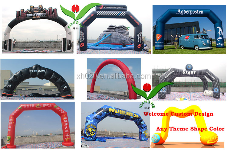 Chocolate color promotion door customized Chocolate color inflatable arch pvc