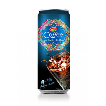 Aluminium can Vietnam Coffee Fruit Juice Basil seed 250ml Coffee drink