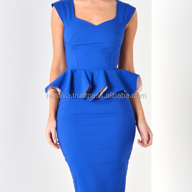Office Wear For Women Dress Peplum Wholesale CHEAP LOW PRICE QUALITY 100% Malaysia Supply OEM Dresses Sexy Prom Wear