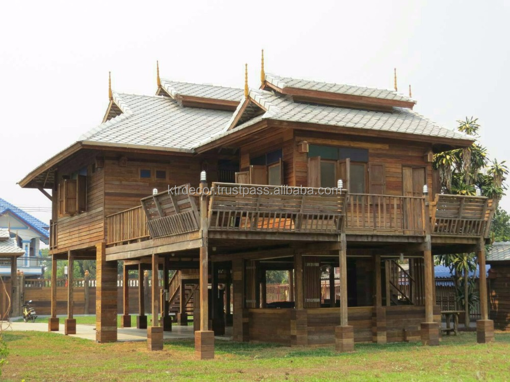 Teak wood house in Chiang mai Thailand