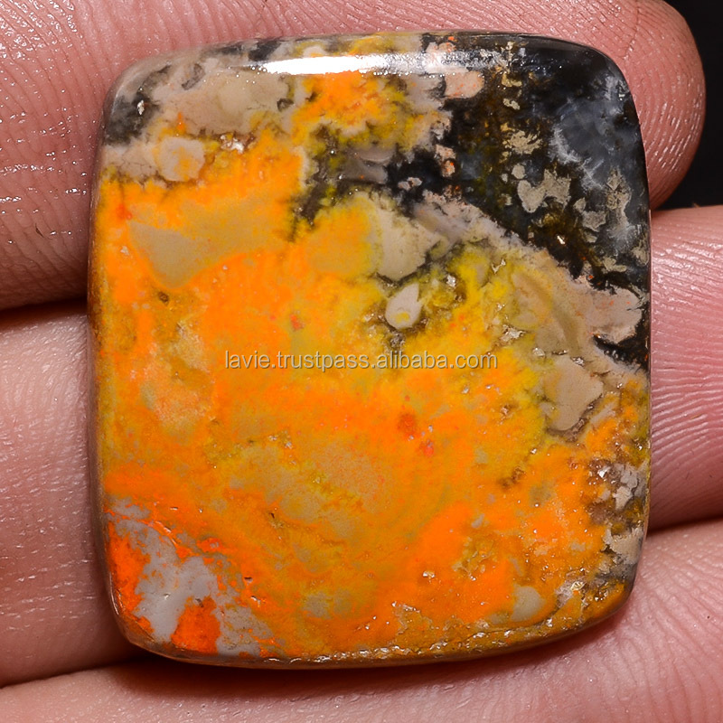 Cabochons Loose Gemstone semi-Precious Bumble Bee Jasper Looking Beautiful Color Untreated 31.9 ct. Cushion Shape