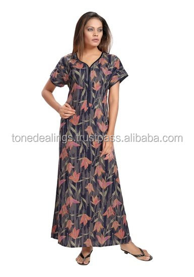 Hot Sale - printed cotton nightgown