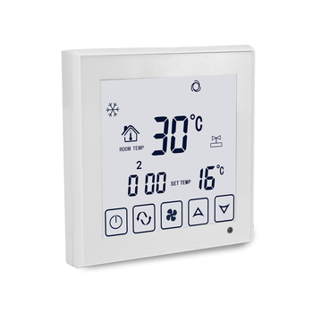 High resolution digital LCD touch screen FCU thermostat
