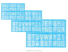 wholesale customized plastic ABC letter stencil ruler