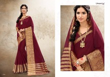 Traditional Designer Branded Ethnic Sarees Women Clothing Indian Lifestyle Khadi Silk 4 Wholesale Export Quality Red Colour