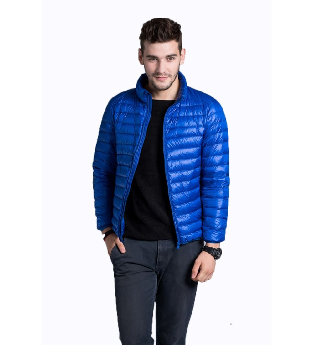 Men's Navy Blue Winter Down Jacket